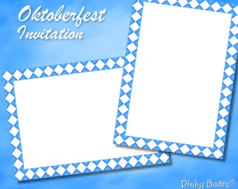 Bavarian Oktoberfest Invitation - Digital Download