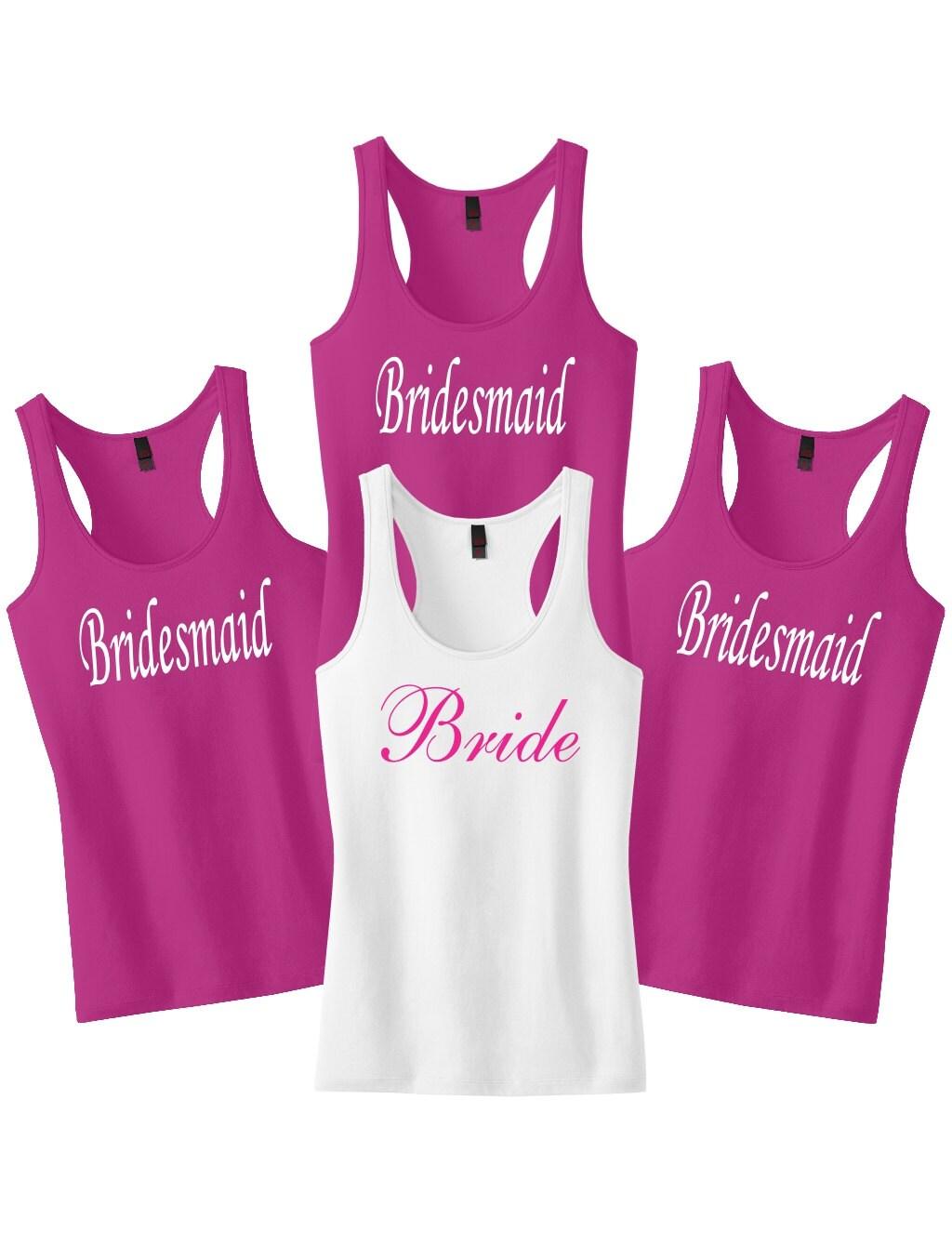 Bridesmaid Shirts Bachelorette Party Tank Tops Gift Wedding Maid Of Honor Bride Top Shirt