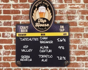 Beer Menu Board Chalkboard-Tap House Edition MB3000-1001 Custom Menu Board