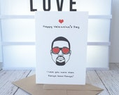 Funny Valentines Day Card, Valentine, Love, Greetings Card, Tongue in Cheek Humour, Humorous, Joke , Comedy, White,