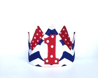 Nautical First Birthday Crown - First Birthday Crown - First Birthday Hat
