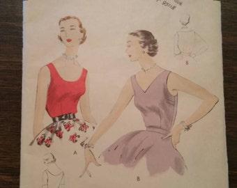 1955 Vogue blouse pattern #7332