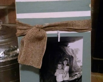 Rustic distressed wood picture frame