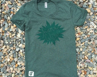 Home Grown Weed Forest Heather Green T-shirt - USA MADE - American Apparel LARGE