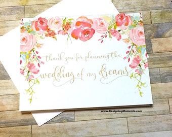 Vintage Wedding Planner Thank You Card - Thank You For Planning the Wedding of Our Dreams, Event Coordinator Wedding Planner - HEIRLOOM