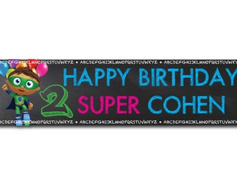 Super Why Personalized Birthday Banner