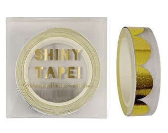 Gold Scollop Pattern Foil Tape - Meri Meri Tape
