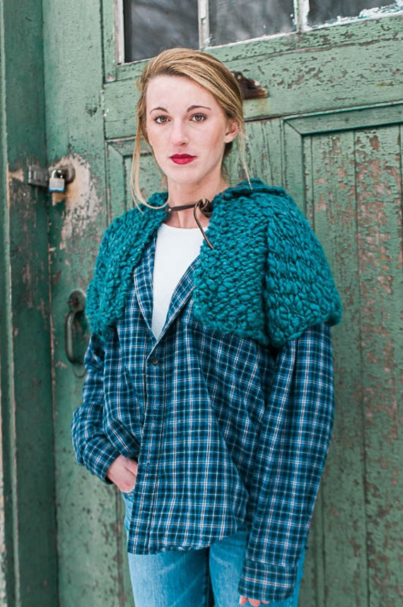Knitting Pattern For Shrug With Hood : Hooded Highland Shrug PDF KNITTING PATTERN from ...