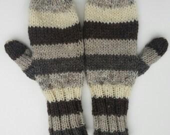 Wool Striped Mittens