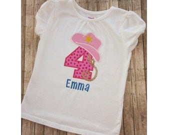 Girl Embroidered Country Birthday Bodysuit Or Shirt
