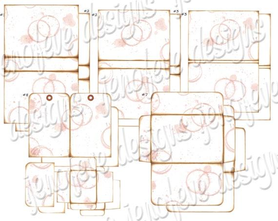 Stack the Pages Printable Mini Album Watermark & Plain Templates