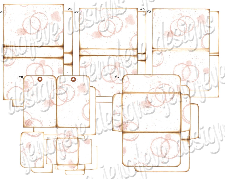 stack the pages printable mini album watermark plain templates. Black Bedroom Furniture Sets. Home Design Ideas