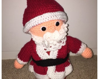 Crochet Santa Claus Plush/Softie (made to order)