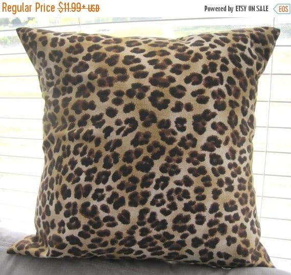 SALE Pillow Cover Pillow Leopard Leopard Pillow by PillowsByJanet