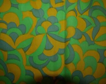 60s Fabric - RETRO - Craft - Unused - Swedish - Scandinavian