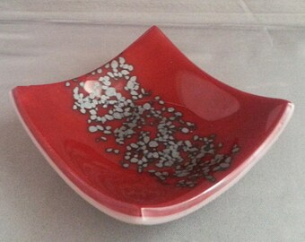 Fused Glass Trinket/Ring/Soap Dish