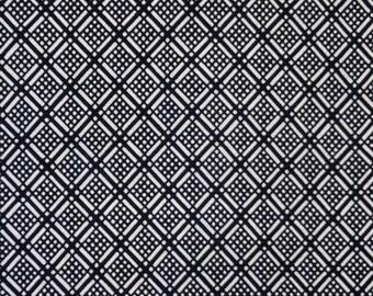 Indigo Hishi Vintage Japanese cotton kimono fabric