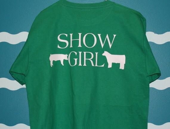 Livestock show shirt - pig and steer shower t-shirt - custom show girl t-shirt - Personalized hog shower t-shirt - hog and steer shirt