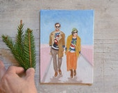Custom Painting from Photo Tacky Sweater Ugly Sweater Personalized Couple Gift