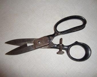 Buttonhole scissors with screw adjuster