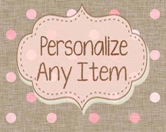 Personalize Any Item - Customize Any Listing