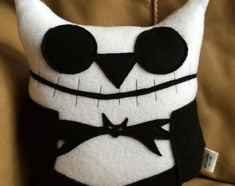 Jack Owlington Owl Plushie- Inspired by The Nightmare Before Christmas- Small Owl Plushies