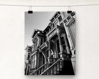 Victorian House, Black and White Photo, San Francisco Architecture