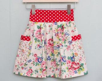 Summer skirt, cath kidston fabric, polka dots