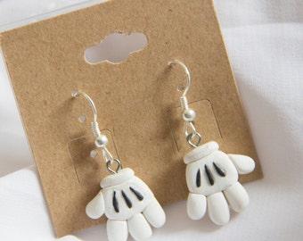 Mickey Mouse Glove Dangle Earrings