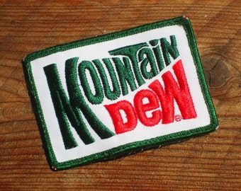 Vintage 70s Mountain Dew  Delivery Uniform Iron-On Patch