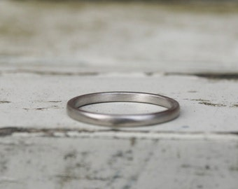 Palladium wedding band, 2mm palladium band