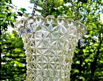 Vintage Light / Lamp Shade Re-Purposed into a Candle Holder, Patio Decor, Garden Decor, Home Decor, Unique, OOAK, Wedding Decor,Mother's Day