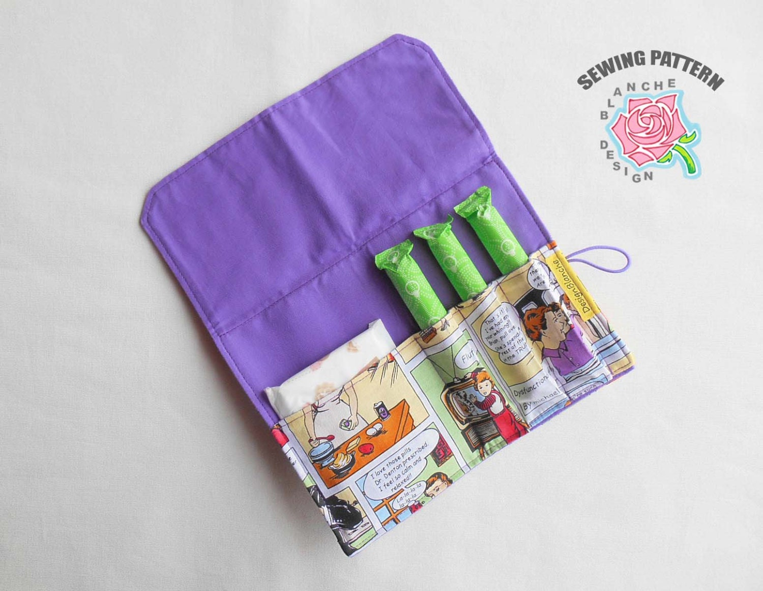 pad amp tampon holder pdf sewing pattern privacy wallet pdf