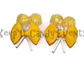 Yellow Lollipop  Hair Clips x 2, Flower Girl Accessory, Candy Hair Clip, Wedding, Bridesmaid Accessory, Sweet Sixteen, Yellow, Lollipop
