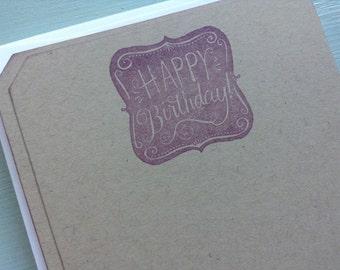 vintage inspired flat note card set, happy birthday, a6, stationery set, set of 10