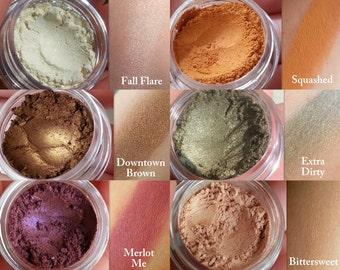 FREE Eyeshadow! New! FALL COLLECTION Eyeshadows! All Natural Eyeshadow, Vegan Eyeshadow. All Natural Makeup, Organic Makeup