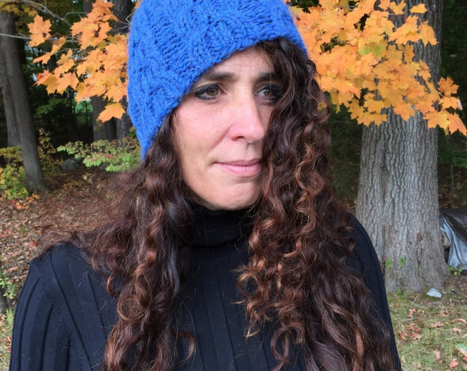 Baby Alpaca Cabled Hat - IN STOCK