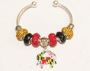 Maryland Flag Crab Bracelet