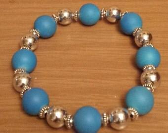 Hawaii Blue Elastic Bracelet