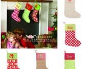 Christmas Stockings - Monogram Christmas Stocking - Personalized Stocking - Custom Christmas Stocking