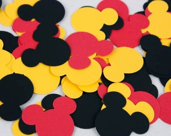 100 Mickey Mouse Confetti, Mickey Mouse Birthday Party Decorations, Mickey Baby Shower, Mickey First Birthday Party Supplies Red Black