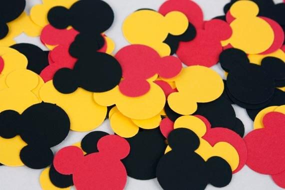 Molto 100 Mickey Mouse Confetti decorazioni festa di compleanno LD25