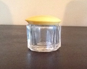 Vintage Cosmetic Jar with Celluloid Lid