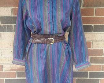 Vintage Sears striped dress
