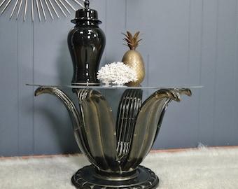 1960s VINTAGE italian agave SIDE TABLE mid century hollywood regency glamour