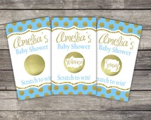 Baby Shower Scratch Off Game Cards (10 card ct.) - Gold Dots (color choices)