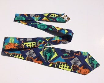 Doctor Who Dalek and Cybermen Necktie