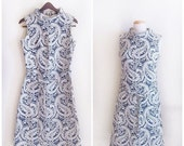 SALE Ice Queen // Vintage 60 Dress // 1960s Mod Dress Mad Men Textured Brocade Shift