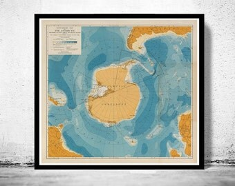 Old Map of Antarctic 1929