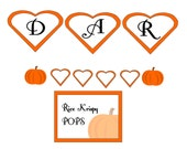 Custom banner and dessert tags for Maxine
